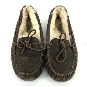 Ugg Boots Size 6 Brown Leather Sandals Slippers